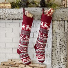Reindeer Classic Knit Stocking