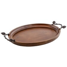 Pine Cone Large Serving Tray