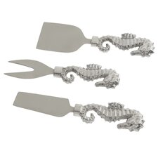 Seahorse 3 Piece Cheese Knife Set