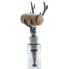 Antler Wine Stopper and Cork Holder Set