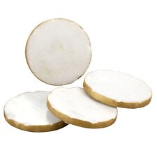 Old Hollywood Round Marble Coaster 1 (Set of 4)