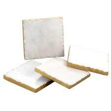 Old Hollywood Square Marble Coaster (Set of 4)