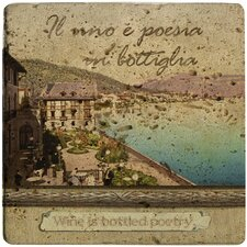 Ambiance Italian Inspirations Bottled Poetry Travertine Trivet