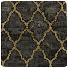 Mother of Pearl Ebony Travertine Ambiance Trivet