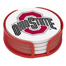 5 Piece Ohio State University Collegiate Coaster Gift Set