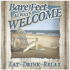 Bare Feet Always Welcome Occasions Trivet