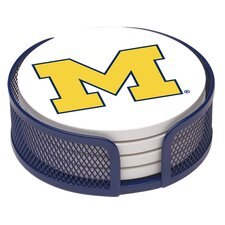 5 Piece University of Michigan Collegiate Coaster Gift Set