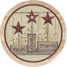 Faith, Family and Friends Coaster (Set of 4)