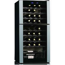 Koolatron 45 Bottle Dual Zone Freestanding Wine Refrigerator