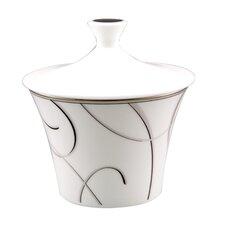 Elegant Swirl Sugar Bowl with Lid