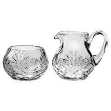 Majestic Crystal Sugar & Creamer Set