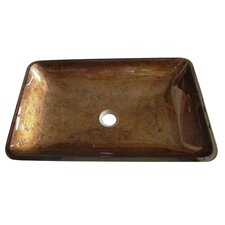 Fauceture Roma Rectangle Glass Vessel Bathroom Sink