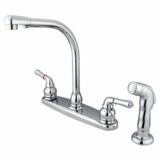 Magellan Double Handle High Arch Kitchen Faucet with Side Spray