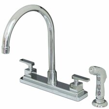 Executive Double Handle Centerset Kitchen Faucet with Side Spray