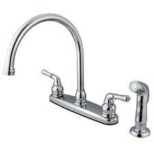 Magellan Double Handle Kitchen Faucet with Non-Metallic Side Spray