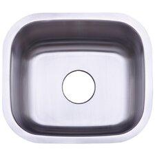 "Country 17.81"" x 15.63"" Gourmetier Single Bowl Undermount Kitchen Sink"