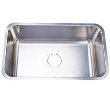 "Boston 30.13"" x 17.88"" Gourmetier Single Bowl Undermount Kitchen Sink"