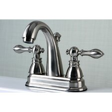 Americana Double Handle Centerset Bathroom Faucet with ABS Pop-Up Drain