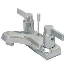 Nuvo Fusion Double Handle Centerset Bathroom Sink Faucet with Retail Pop-up