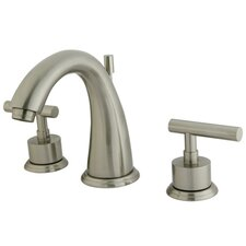Manhattan Double Handle Widespread Bathroom Faucet with Brass Pop-up