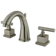 Claremont Double Handle Widespread Bathroom Faucet with Brass Pop-Up Drain