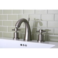 Concord Double Handle Widespread Bathroom Faucet with Brass Pop-Up Drain