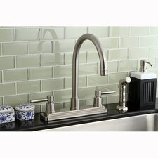 Concord Double Handle Centerset Kitchen Faucet with Side Spray