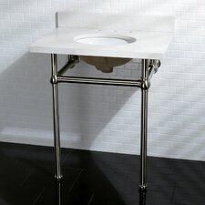 """Templeton Fauceture Quartz 22"""" Console Bathroom Sink with Overflow"""