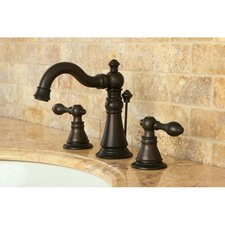 American Classic Double Handle Widespread Bathroom Faucet with ABS Pop-Up Drain