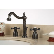 Heritage Double Handle Widespread Bathroom Faucet with Pop-Up Drain