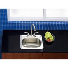 """Carefree 15"""" x 15.75"""" Single Bowl Self-Rimming Bar Sink"""