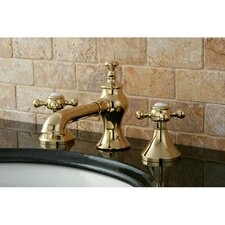 English Country Double Handle Widespread Bathroom Faucet with Pop-Up Drain