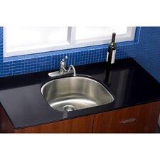 """Manhattan 23.19"""" x 21.06"""" Gourmetier Stainless Steel Single Bowl Undermount Kitchen Sink"""