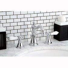 American Patriot Double Handle Widespread Bathroom Faucet with ABS Pop-Up Drain