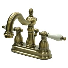 Heritage Double Handle Centerset Bathroom Faucet with ABS Pop-Up Drain