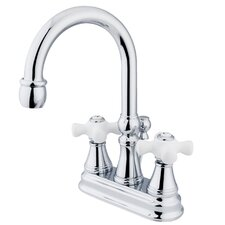 Governor Double Handle Centerset Bathroom Faucet with Brass Pop-Up Drain