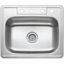 "Studio 22"" x 25"" Gourmetier Self Rimming Single Bowl Kitchen Sink"