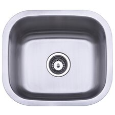 "Loft 16"" x 16"" Gourmetier Undermount Single Bowl Bar Sink"