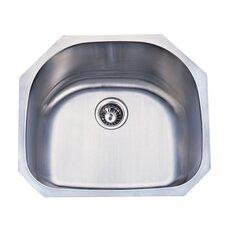 """Loft 23.75"""" x 20.88"""" Gourmetier Undermount Single Bowl Kitchen Sink"""