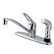 Wyndham Single Handle Kitchen Faucet with Sprayer