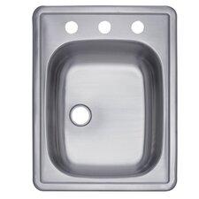 """Carefree 22"""" x 17.25"""" Single Bowl Self-Rimming Bar Sink"""