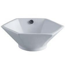 Metropolitan China Vessel Bathroom Sink