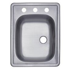 """Carefree 22"""" x 15.75"""" Single Bowl Self-Rimming Bar Sink"""