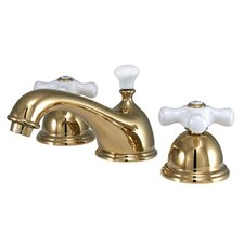 Restoration Double Handle Widespread Bathroom Sink Faucet with Brass Pop-up