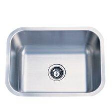 """Chicago 21.38"""" x 17.75"""" Gourmetier Single Bowl Undermount Kitchen Sink"""