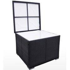Gartenbox aus Kunststoff, Korbgeflecht/Rattan