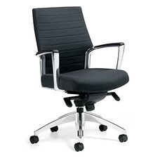 Accord Conference Mid-Back Pneumatic Conference Chair