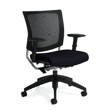 Graphic Mid-Back Posture Office Chair with Mesh Back