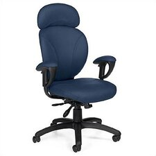 High-Back Synchro-Tilter Executive Chair with Arms