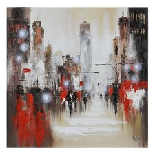 Windy Day by Giovanni Russo Original Painting on Wrapped Canvas